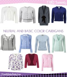 Find your best neutral and basic color cardigans and wear them during this autumn or any time you need a plus layer. Which is the best neutral and basic color shades for Light Summer seasonal color women? And what is the key style elements of your seasonal palette? Click and read it in my post.