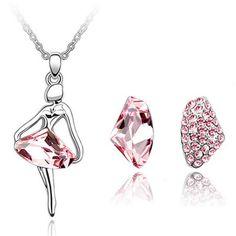 22K White Set-Waterflower Alloy Crystal Sets 2013 temperament Jewelery,2013 cheap Jewelery,generous Jewelery buying,