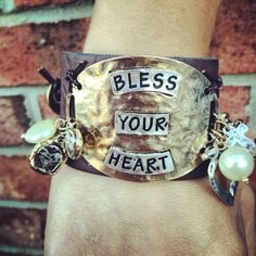 Bless Your Heart Cuff Bracelet $34.99 #southernfriedchics