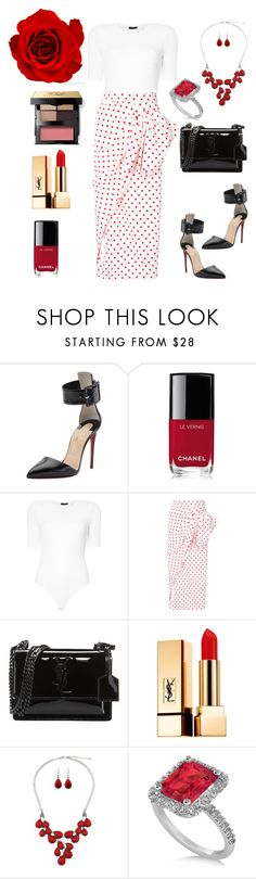 """""""Untitled #626"""" by mamatoodie-1 ❤ liked on Polyvore featuring Christian Louboutin, Chanel, ATM by Anthony Thomas Melillo, Bambah, Yves Saint Laurent, Allurez and Bobbi Brown Cosmetics"""