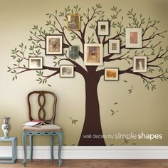 Family Tree Decal  Family Tree Wall Decal  Two by SimpleShapes, $150.00