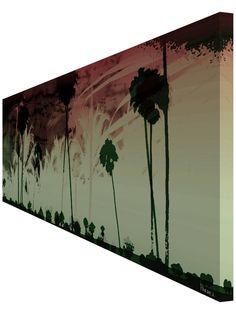 Amazon.com: Parvez Taj Worth The Risk UV Ink Canvas Artwork, 60 by 20-Inch…