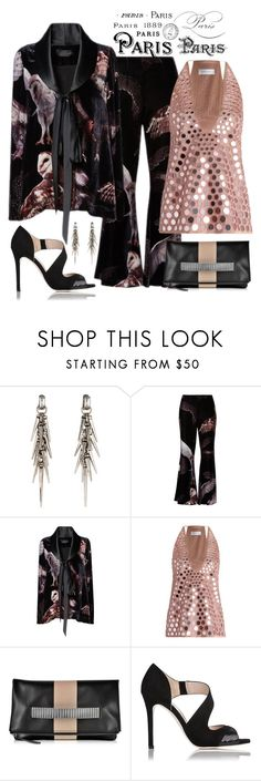 """""""Romance was Born Bird of Prey Velvet Jacket & Pants Look"""" by romaboots-1 ❤ liked on Polyvore featuring Rachel Zoe, Zimmermann and McQ by Alexander McQueen"""