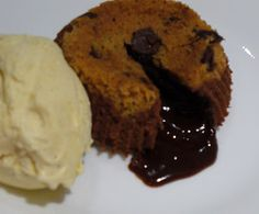 Chocolate chip cookie and molten chocolate cake--at the same time?  Mmmm...