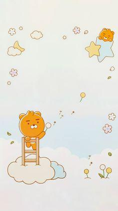 Keroppi Wallpaper, Bear Wallpaper, Iphone Wallpaper, Ryan Bear, Kakao Ryan, Apeach Kakao, Kakao Friends, Studio Ghibli Movies, Line Friends