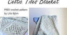 Celtic Tiles Blanket: FREE overlay crochet pattern   LillaBjörn's Crochet World