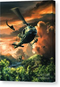 Painted by Randy Green, the Descent Into The A-Shau Valley wall mural from Murals Your Way will add a distinctive touch to any room. Murals Your Way, Military Drawings, Vietnam War Photos, Military Helicopter, Aviation Art, Military Art, Gi Joe, Fine Art America, Canvas Prints