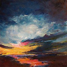 Volusia Sunrise by Cheri Vilona Oil ~ 24 x 24