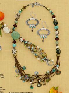 Silpada look; necklace, bracelet & earrings....sassy & classy