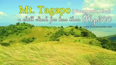 Compared to other mountains, Mt. Tagapo is not a popular hiking site, Hiking Site, Stress Free, Wander, Climbing, Mountains, Eat, Travel, Viajes, Mountaineering