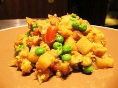 Potatoes, Cauliflower and Peas with Indian Spices (Aloo Gobi)