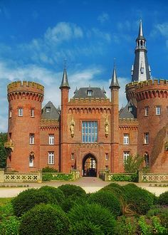 Moyland Castle in Germany Greeting Card by Mountain Dreams