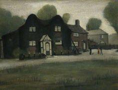 An Old Farm, England, United Kingdom, 1943, by LS Lowry.