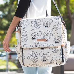 We've got magical gifts for all Moms | Petunia Pickle Bottom Disney Minnie And Mickey Mouse Sketch Boxy Backpack