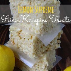 Lemon Supreme Rice Krispies Treats-2 of my favorite things!!! Lemon and Rice Krispie Treats :)