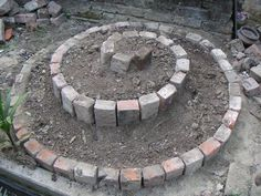 17 of the Most Attractive Small Garden Ideas for the Smart Gardener You don't need a large yard or open space to grow your colorful [. Herb Spiral, Spiral Garden, Brick Garden, Diy Herb Garden, Garden Yard Ideas, Garden Projects, Garden Ideas Using Bricks, Creative Garden Ideas, Small Gardens