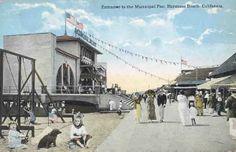 Hermosa Beach California 1920's. Unknown Artist.