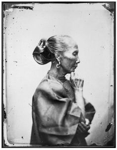 Credit: Wellcome Library, London  Old woman, Canton, Kwangtung province, China - Photograph 1868 By: John Thomson