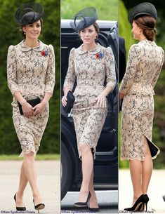 See how the Duchess of cambridge, formerly Kate Middleton, marked the anniversary of the Battle of the Somme with Prince William & Prince Harry. Looks Kate Middleton, Kate Middleton Prince William, Prince William And Kate, Duchesse Kate, Estilo Real, Estilo Fashion, Lady Diana, Royal Fashion, Duchess Of Cambridge