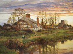Autumn Evening in Worcestershire by Benjamin William Leader, 1892.