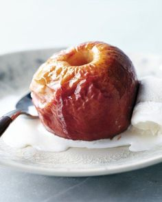 Roasted Apples with Ice Cream Recipe