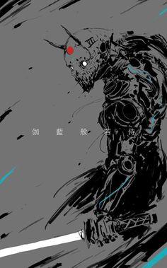 Personnage Eye Makeup eye makeup after lens implant Character Concept, Character Art, Concept Art, Photographie Street Art, Samurai Artwork, Arte Obscura, Arte Horror, Cyberpunk Art, Japanese Art