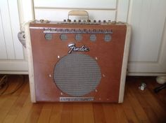 Guitar amp I made with an old suitcase and a old fender amp components.