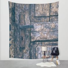 Weathered Wooden Door Wall Tapestry by Maria Heyens   Society6