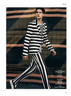 Total lokk Jean-Paul Gaultier Monsieur - Alexander Beck, Rafa Bodgar and Rodolphe Zanforlin, lensed by Daniel Riera and outfitted by Nik Piras for the Spring/Summer 2013 issue of GQ Style Italia.