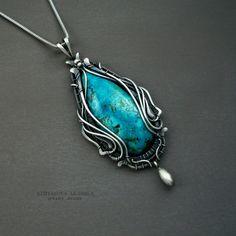 Francesca pendant silver pendant turquoise stone