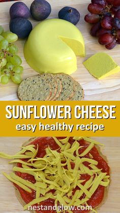 Sunflower Cheddar Cheese Sunflower Cheese Easy Vegan Cheese Recipe – made from sunflower seeds so cheap and with a cheesy dairy free taste from nutritional yeast. Easy recipe that is healthy and oil free - Delicious Vegan R Easy Healthy Recipes, Raw Food Recipes, Healthy Snacks, Vegetarian Recipes, Easy Meals, Dinner Healthy, Recipes Dinner, Vegan Recipes Easy Cheap, Crowd Recipes