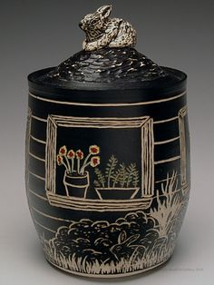 Judy Cutchins Lidded Jar at MudFire Gallery