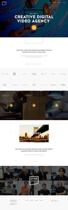 TANE live website and Ui design concept by Elegant Seagulls on Dribbble. Clean Web Design, Web Ui Design, Best Web Design, Web Design Trends, Graphic Design, Website Layout, Web Layout, Layout Design, Interface Design