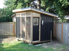 Modern Garden Shed Plans Backyard Office, Backyard Studio, Backyard Retreat, Backyard Playground, Garden Studio, Garden Office, Contemporary Sheds, Modern Shed, Party Shed