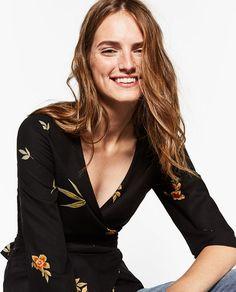Image 4 of KIMONO STYLE TOP from Zara