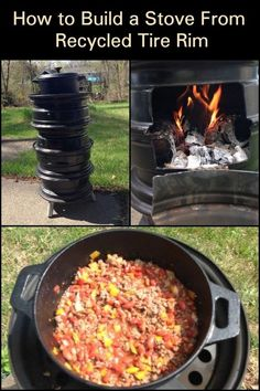 Don't throw away those old rims! Turn them into a functional stove that you can put in your backyard and make delicious meals.