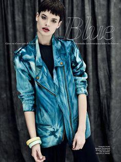 blue mood: pau bertolini by battellini for harpers bazaar argentina june 2013 | visual optimism; fashion editorials, shows, campaigns & more!
