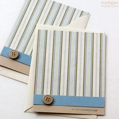 Happy Father's Day ~ Madigan Made { simple DIY ideas } Happy Dad Day, Happy Fathers Day, Masculine Birthday Cards, Masculine Cards, Cute Cards, Diy Cards, Men's Cards, Father's Day Diy, Beautiful Handmade Cards