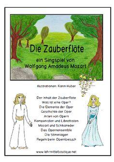 Free: Mozarts Zauberflöte für die Mittelstufe + Informationen über die Oper