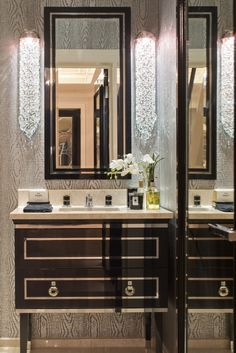 Guest WC with sink recessed into the wall © Hill House Interiors ...