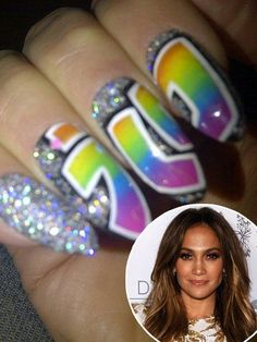 Celebrity Nails Jennifer Lopez