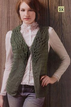lacecollaredvest by Glitter Knitter, via Flickr  M1