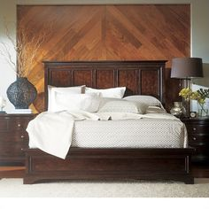 Transitional-Panel Bed in Polished Sable - 042-13-40
