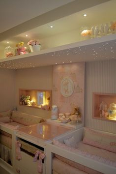 40 Ideas For Baby Nursery Twins Children, Baby Bedroom, Baby Room Decor, Girls Bedroom, Twin Baby Rooms, Twin Room, Twin Nurseries, Bedroom Decor, Nursery Twins, Baby Room Design