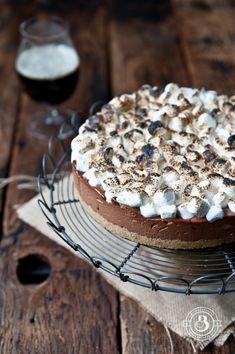 Chocolate Stout Smores icebox Pie