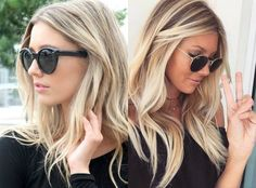 The perfect medium blonde hairstyles 2017 pretty-hairstyles. Medium Hair Cuts, Medium Hair Styles, Long Hair Styles, Pelo Color Plata, Medium Length Blonde, Shoulder Hair, Hair Styler, Hair Styles 2016, Blonde Balayage
