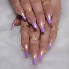 Nude to purple Pearl Ombré   Rings @queenpee