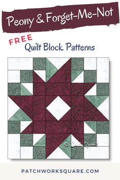 Quilt Square Patterns, Patchwork Quilt Patterns, Quilt Patterns Free, Pattern Blocks, Half Square Triangle Quilts, Square Quilt, Quilting Templates, Quilting Ideas, Quilting Designs