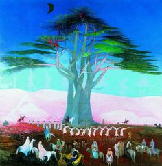 Pilgrimage to the Cedars in Lebanon, Tivadar Csontváry Kosztka, Museum of Fine Arts, Budapest, Rights Reserved - Free Access Budapest, Kunsthistorisches Museum, Modern Gothic, Google Art Project, Cedar Trees, Digital Museum, Post Impressionism, Old Paintings, Watercolor Paintings