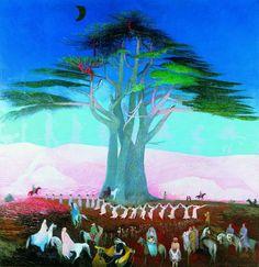 Csontváry Kosztka Tivadar: Zarándoklás a cédrushoz Libanonban (1907)